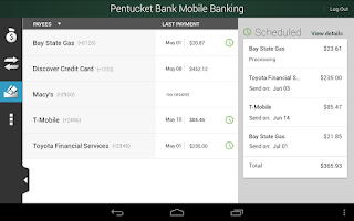 Screenshot of Pentucket Bank