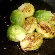 Steamed Brussels Sprouts With Lemony Brown Butter