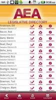 Screenshot of AEA Legislative Guide