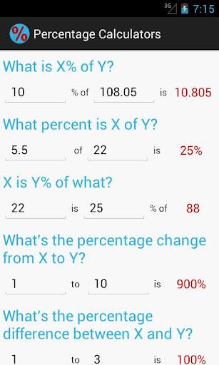 Percentage Calculators Free
