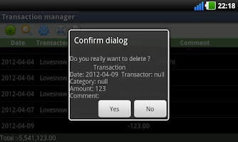 Screenshot of Hoasung Expense Manager