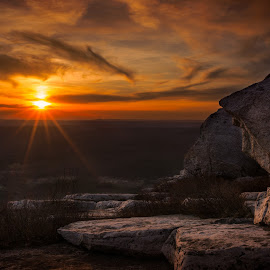 Sunset at Bear Hill by Gerald Berliner - Landscapes Sunsets & Sunrises