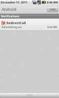 Screenshot of RedirectCall-call forwarding