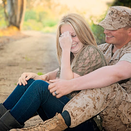 Laughing  by Stefanie Drake - People Couples ( love, laugh, usmc, military )