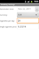 Screenshot of E-Smoker Calculator