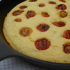 Cherry Tomato Studded Corn Bread