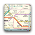 Paris subway map icon