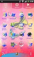 Screenshot of GO Launcher EX Theme Butterfly