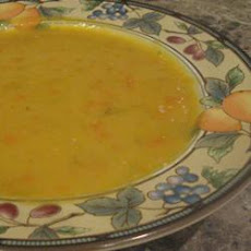 Yellow Split Pea and Frankfurter Soup