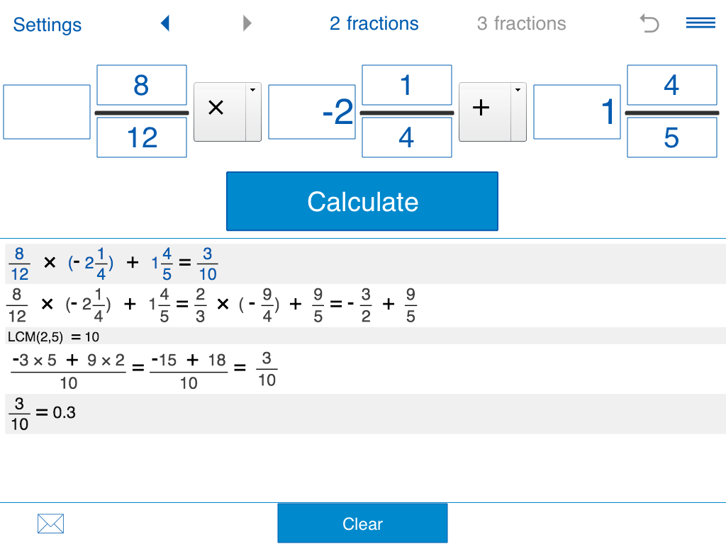 Fraction calculator Screenshot 13