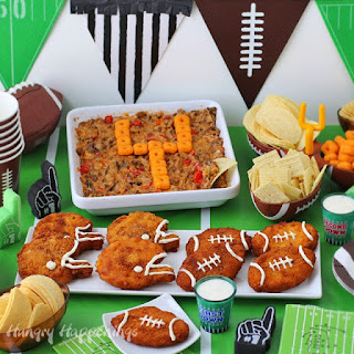 Crispy Fried Chicken Footballs & Helmets