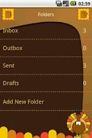 Screenshot of Easy SMS Thanksgiving theme