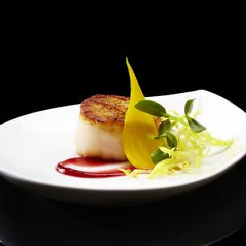 Diver Scallops with Red and Golden Baby Beets