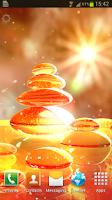 Screenshot of Fire Zen Stones Live Wallpaper