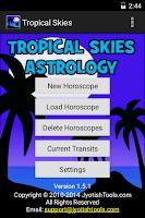 Screenshot of Tropical Skies Astrology