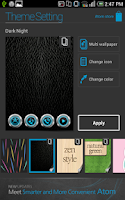 Screenshot of Dark Night Atom theme