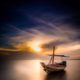Gyosen by Ary Hastono - Landscapes Beaches ( #gyosen #indonesia #surabaya #kenjeran #sunrise #beach #longexposure )