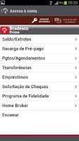 Screenshot of Bradesco Prime