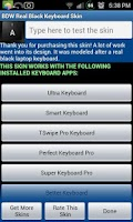 Screenshot of Real Black Keyboard Skin