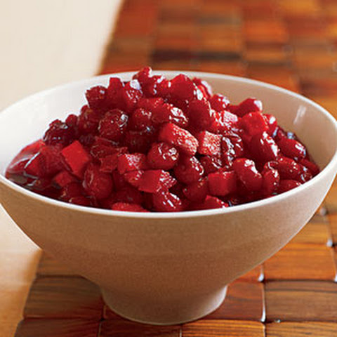 Cranberries with Apples and Brandy