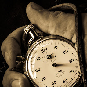 Time must have a stop by Bogdan Rusu - Artistic Objects Still Life ( hand, sepia, chronometer, watch, moody )
