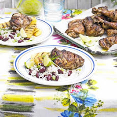 Jamaican-spiced Chicken With Chargrilled Pineapple & Rice And Peas