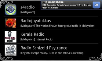 Screenshot of real Radio India