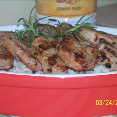 Orange Rosemary Grilled Pork Tenderloin