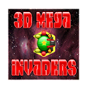3D Mega Invaders in space game icon