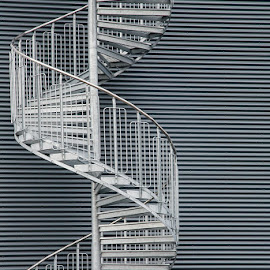 Spiral stair by Kim Mortensen - Buildings & Architecture Other Exteriors ( iceland, stair, handrail, spiral, iron )