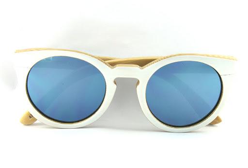 Woodys Barcelona Dora mirrored sunglasses-white