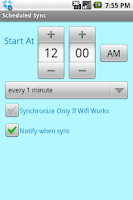 Screenshot of ScheduledSync