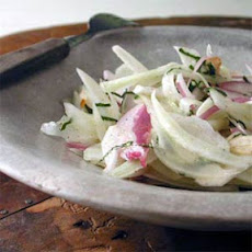 Shaved Fennel Salad with Almonds and Mint