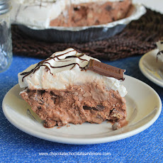 Chocolate Candy Bar Ice Cream Pie