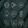 App White Line Go Apex Nova Theme APK for Kindle