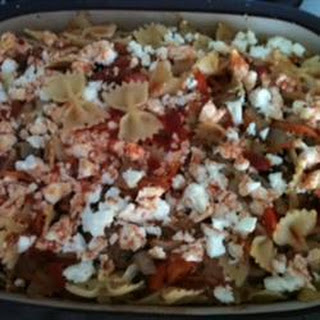 Barbecued Aubergine And Feta Farfalle