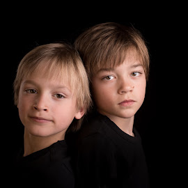 Brothers by Milou Krietemeijer-Dirks - Babies & Children Child Portraits