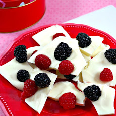 Fresh Berry White Chocolate Bark