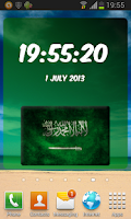Screenshot of Saudi Arabia Digital Clock