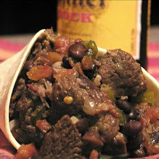 Spicy Pot Roast with Black Beans and Bock Beer