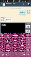 Screenshot of Pink Cheetah Keyboard