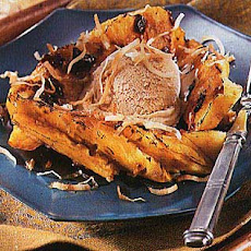 Caramelized Pineapple with Brown Sugar-Ginger Ice Cream