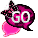 GO SMS - PinkCheetahButterfly2 icon