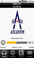 Screenshot of Atlantis.fm