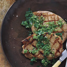 Grilled Pork with Green Tomato Salsa