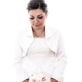 Milica & Milan by Jovan Barajevac - Wedding Bride ( high key, wedding, bucket, white, bride )