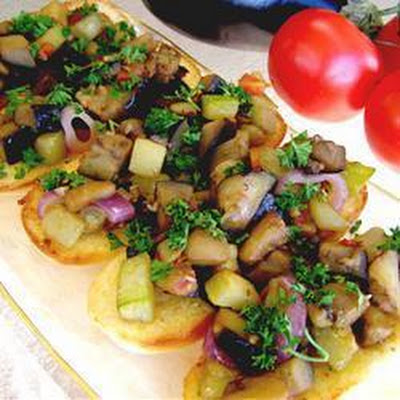 Garden Vegetable Bruschetta