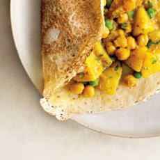 Rava Dosas with Potato and Chickpea Masala Recipe