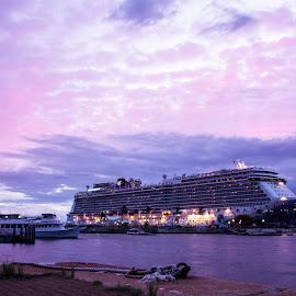 Norwegian Breakaway in Burmuda by Corné du Plessis - Transportation Boats