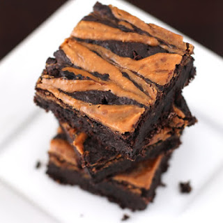 Fudgy Peanut Butter Swirled Black Bean Brownies